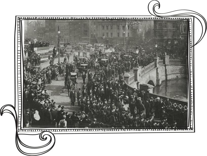 Jarðarferðin hjá George Müller í Bristol, Mars 1898.